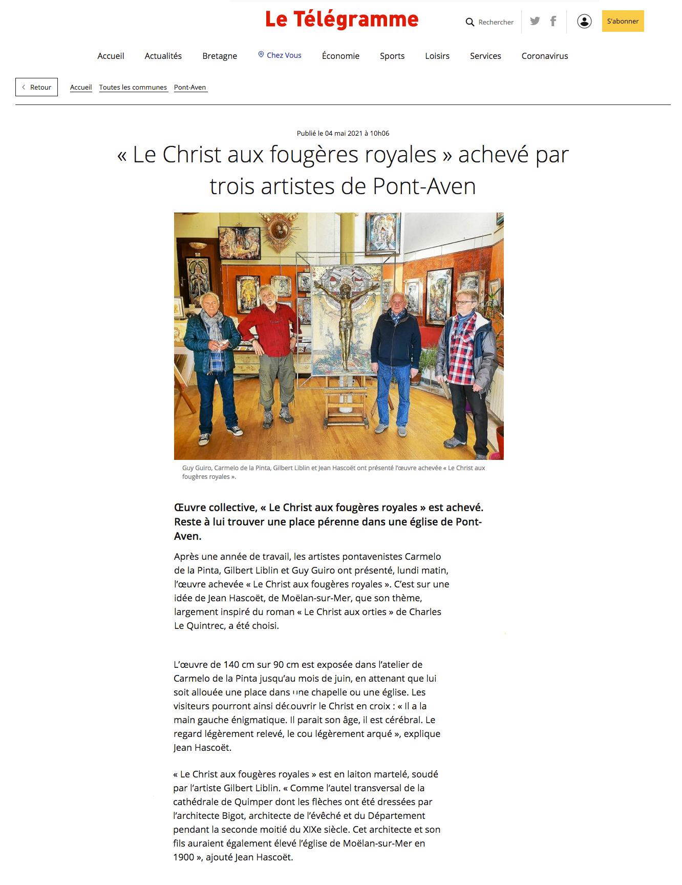 Jean Hascoet - Pont-Aven - Christ aux fougeres royales